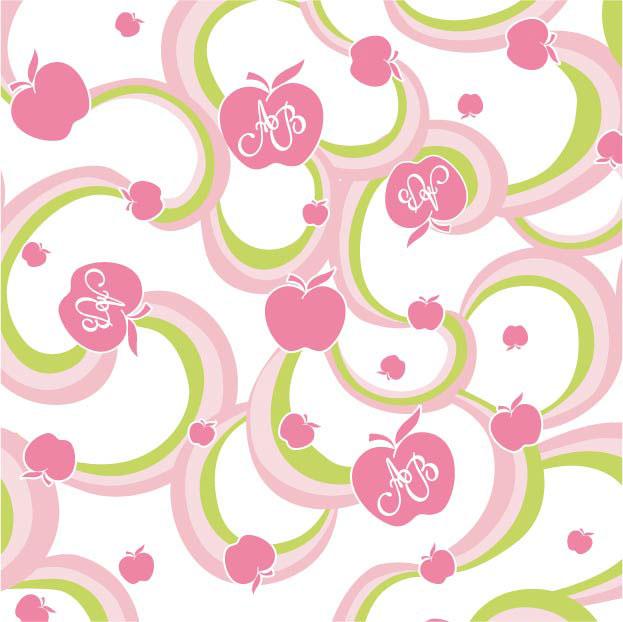 Apple Bottom Swirl Print