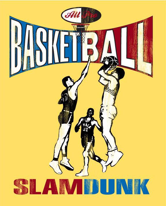 Retro Basketball Screenprint
