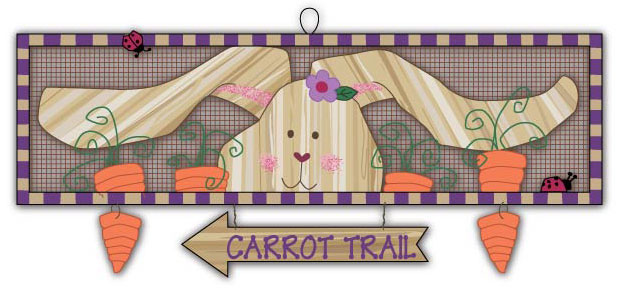 Easter/Spring Wood and metal sign.