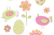 Easter/Spring allover print