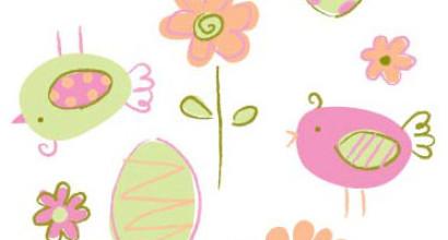 Easter/Spring allover print