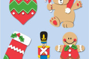 Fun felt Holiday appliques for crafts and apparel ©Blumenthal/Lansing.