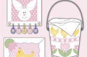 Easter Wall Hanging, Pillow, & Bucket