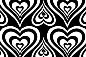 Black and white op art print.