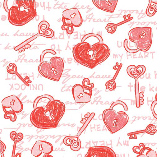 Valentine Print for floral and gift wrap