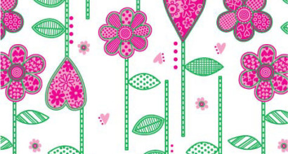 Modern Valentine fheart flower print design