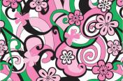 Mod floral Junior allover print