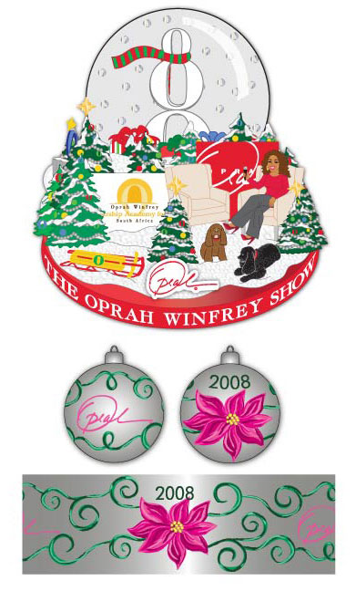 Christmas decorations designed for the Oprah Store.