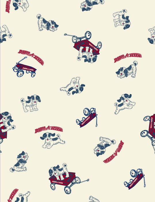 Radio Flyer Wagon Pup print