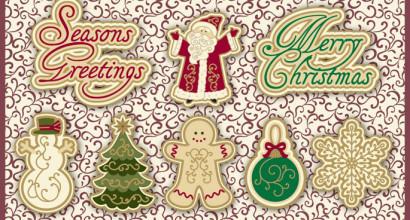 Holiday Vintage Buttons © Blumenthal/Lansing