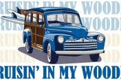 Cruisin in my Woodie Boys' Screenprint