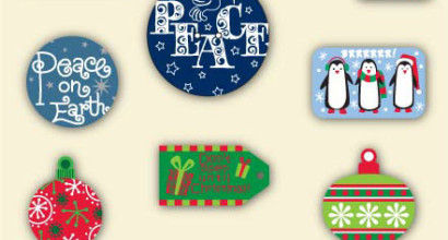 Christmas Graphics including Reindeer, Joy, Penguins, Peace, etc.
