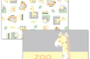Neuter applique and allover print zoo art