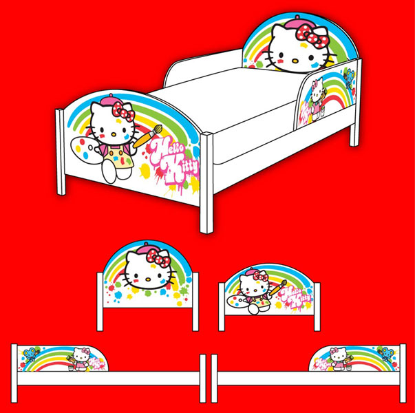 Hello Kitty Rainbow Bed