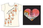Wilma Flintstone Screenprint Designs