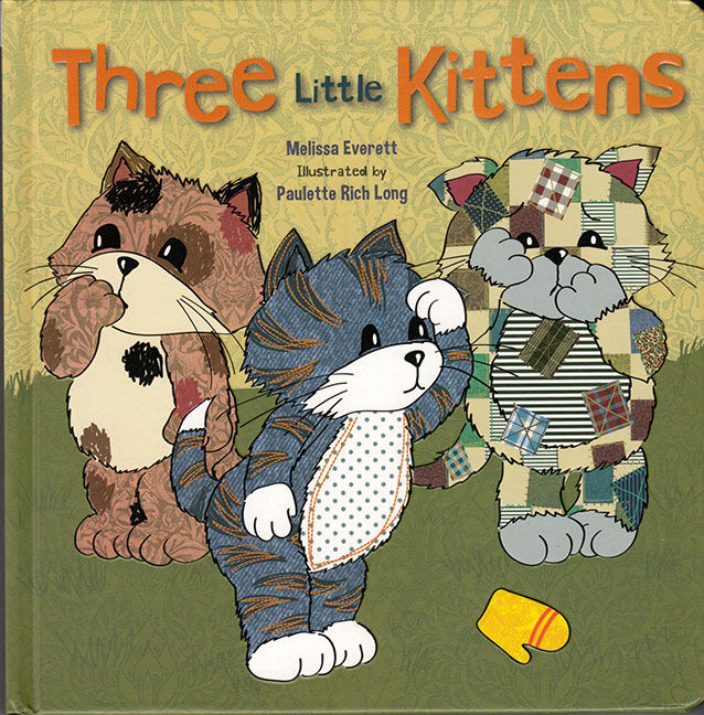 Three Little Kittens Book Cover for Flowerpot Press, copyright 2013